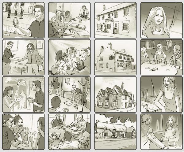 Quy trình sản xuất phim quảng cáo ( TVC) - storyboard